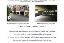 Parking Available – Bournemouth Town Centre – 18 Madeira Road – £75 – £85 Per Month