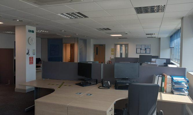 first floor left hand side office
